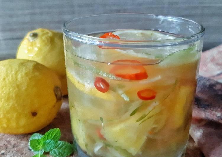 Resep Asinan Timun Nanas Saus Lemon
