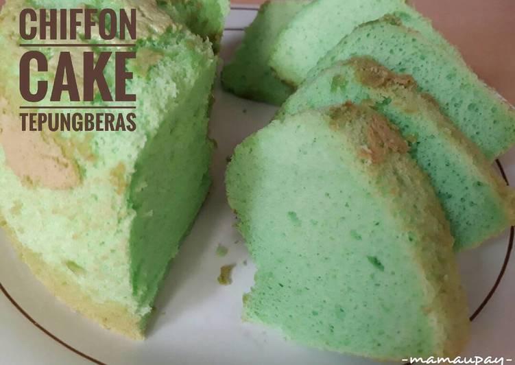 Resep Chiffon Cake Tepung Beras