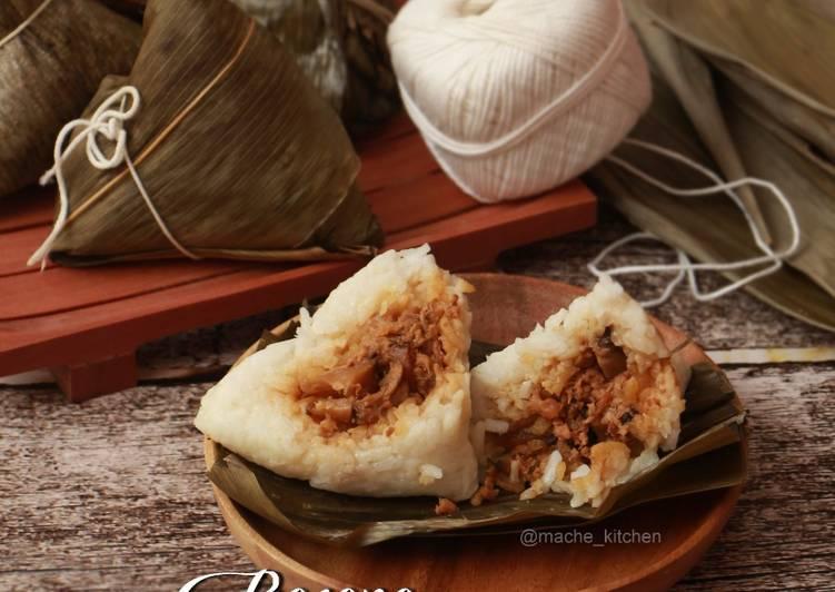 Resep Bacang Nasi ayam Jamur
