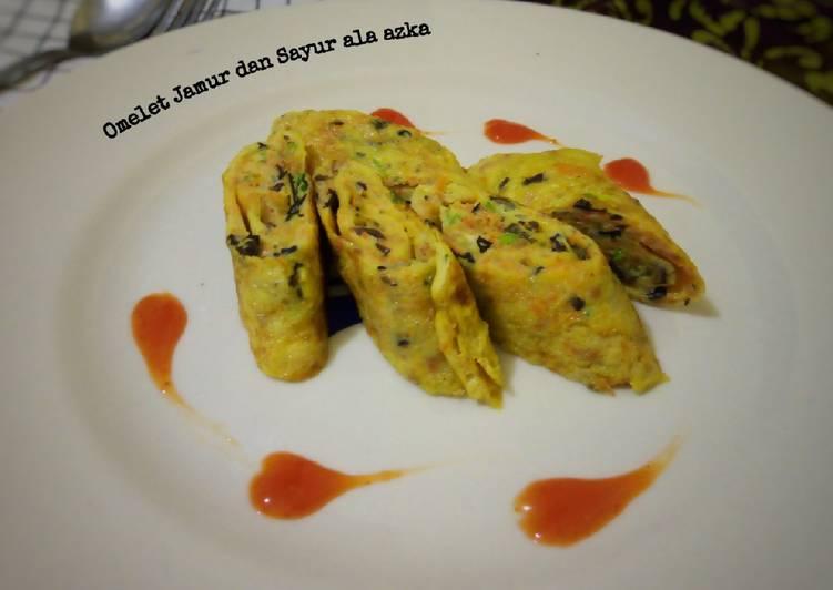 Resep Omelet Jamur dan Sayur