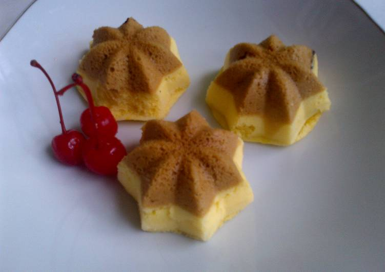 Resep Bolu kukus labu kuning lapis coklat