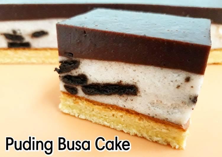 Resep Puding Busa Cake    Lapis Coklat dan Oreo