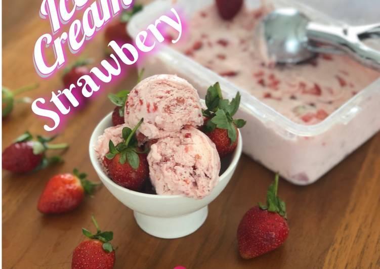 Resep Ice cream strawbery