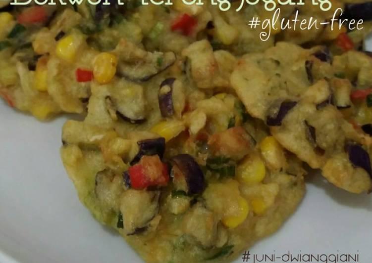Resep Bakwan Terong-Jagung (#gluten-free)