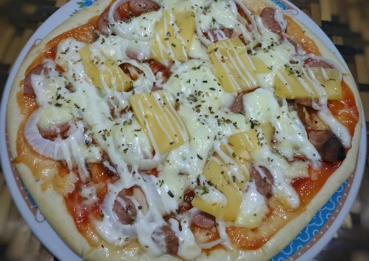 Resep Pizza toping ikan asap
