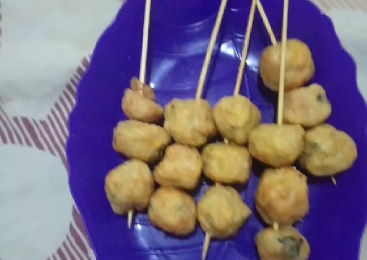 Resep Bakso tempe goreng+sayuran
