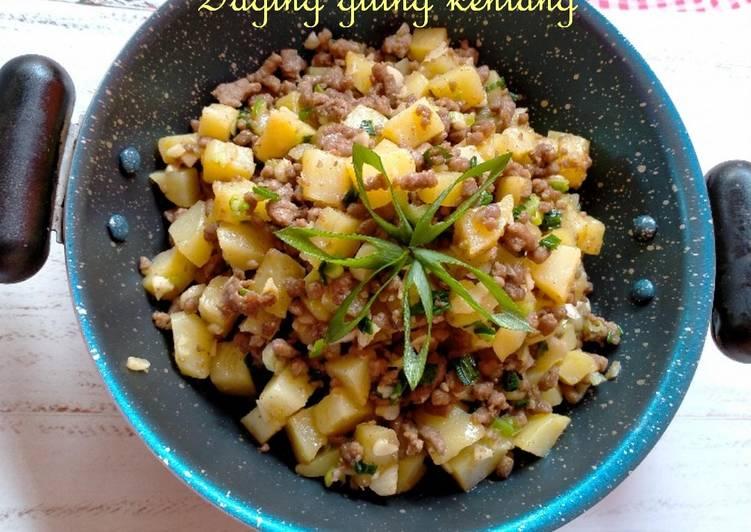 Resep Daging giling kentang