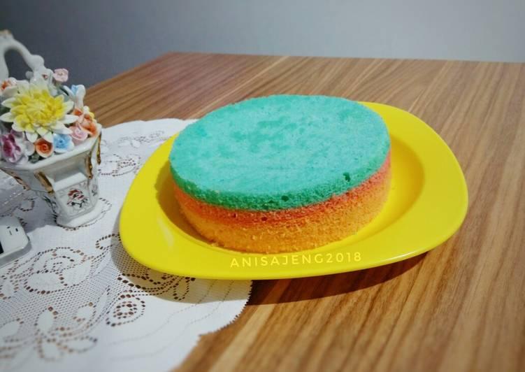 Resep Steamed rainbow cake glutenfree #Maree