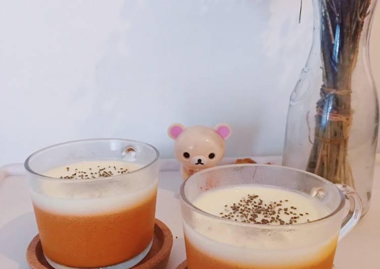 Resep Thai Tea Pudding