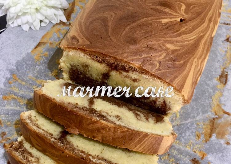 Resep Marmer cake all-in-one