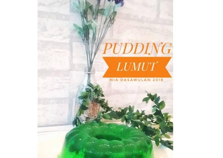 Resep Pudding lumut