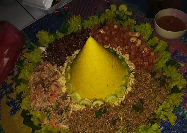 Resep Nasi Tumpeng kuning sederhana