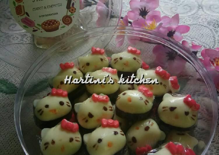 Resep 141.Coklat Hello Kitty