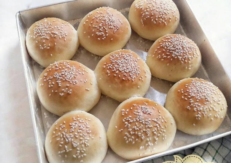 Resep Roti Burger homemade