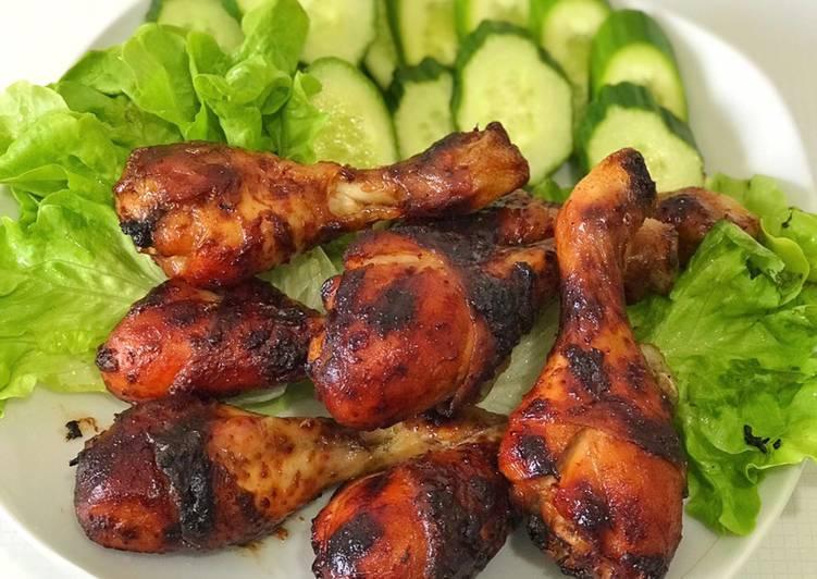 Resep Honey Grilled Chicken (Ayam panggang madu)