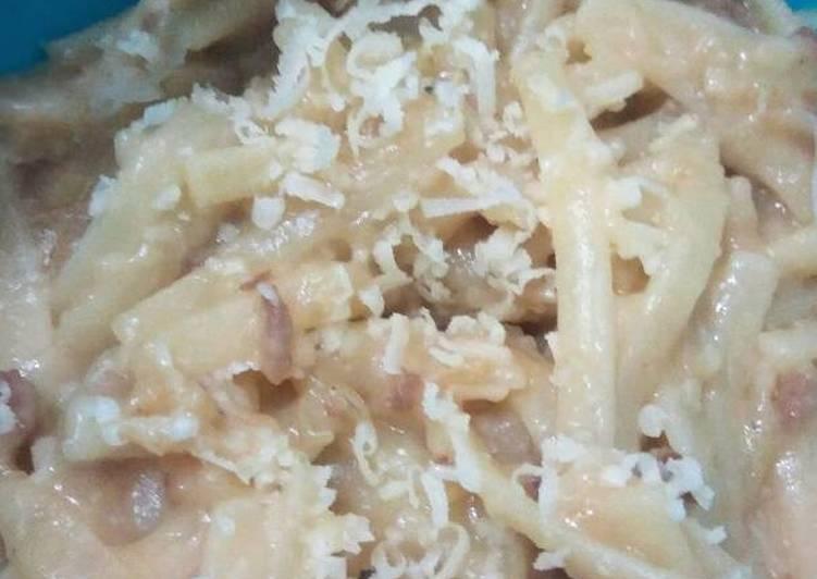 Resep Spaghetti Carbonara (MPASI 16M+) #PR_Pasta