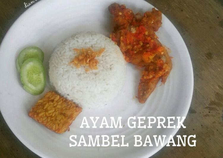 Resep Ayam Geprek Sambel Bawang