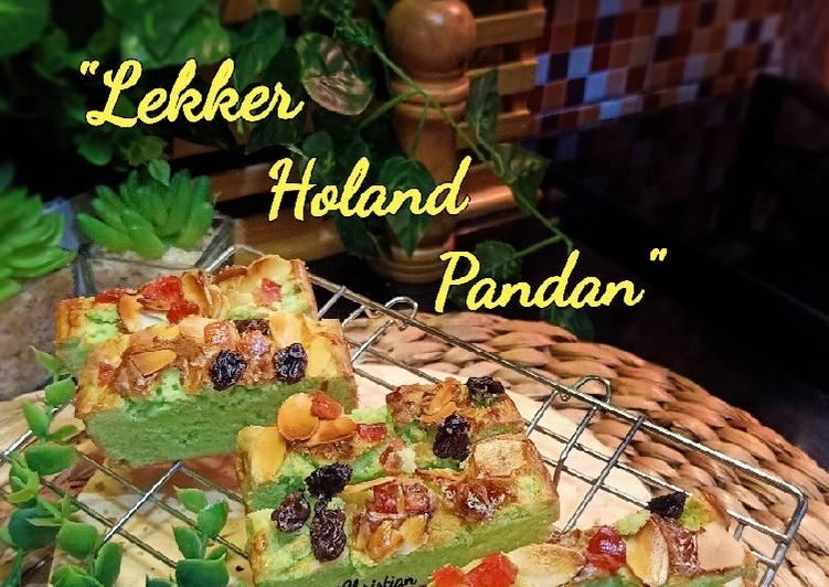 Resep Lekker Holand Pandan (versi sederhana)