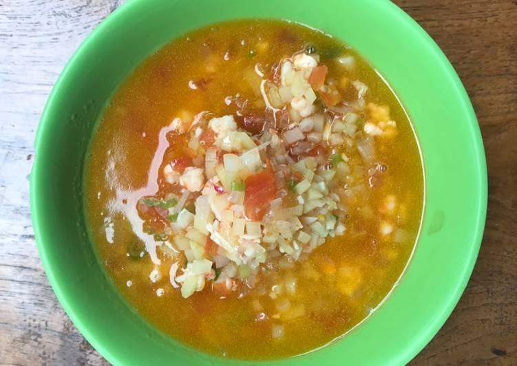 Resep MPASI 1 Tahun Keatas Sup Bening Udang & Tomat