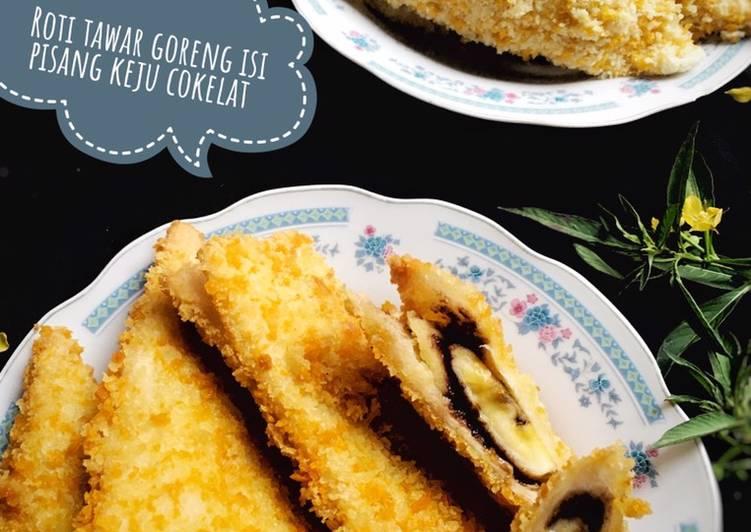 Resep Roti Tawar Goreng Isi Pisang Keju Cokelat