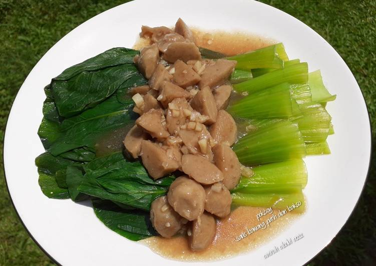 Resep Pokcoy saus bawang putih