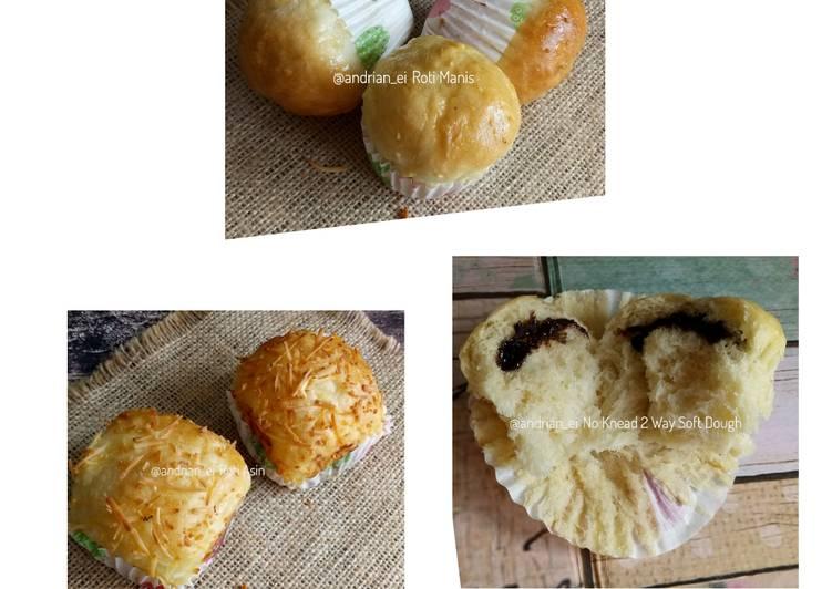 Resep No Knead Soft Dough 2 Ways #rabubaru