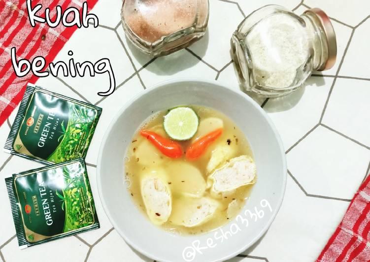 Resep Egg roll keto kuah bening