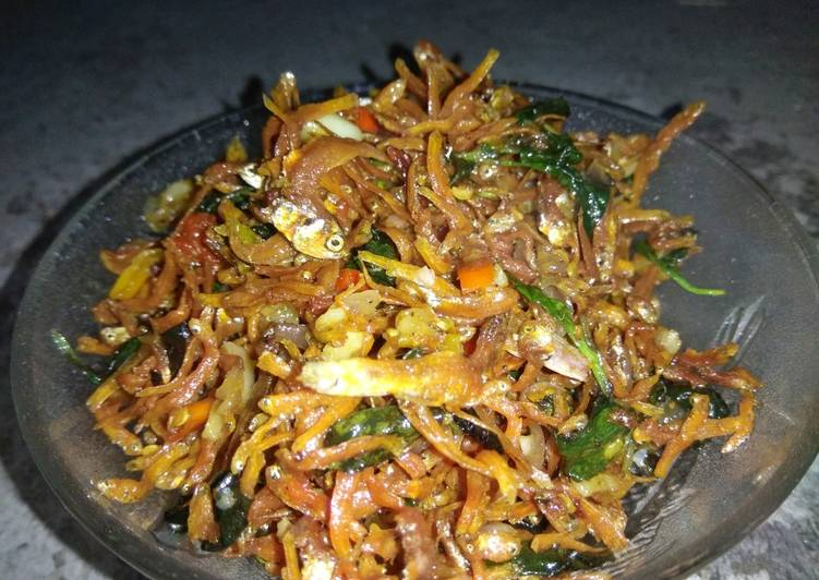Resep Teri kemangi sambal bawang