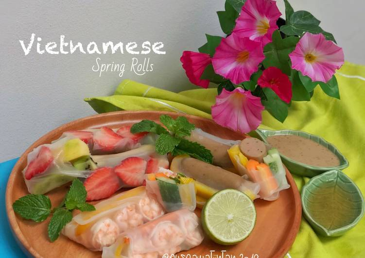 Resep Vietnamese Spring Rolls