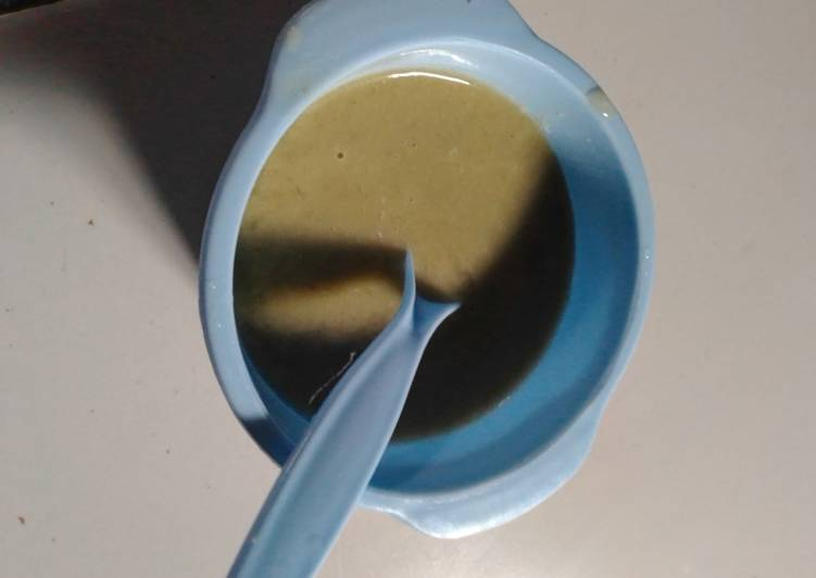 Resep Pure kacang hijau MPASI