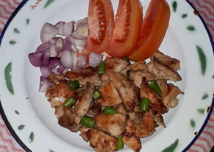 Resep Sate Ayam Tanpa Tusuk (Menu Eat Clean )