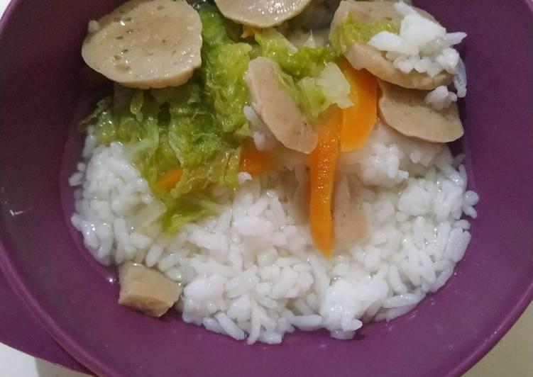 Resep Sayur sawi dengan bakso untuk anak 2 tahun balita