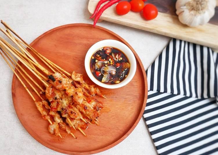 Resep Sate Kulit Ayam pedas (Jajanan)