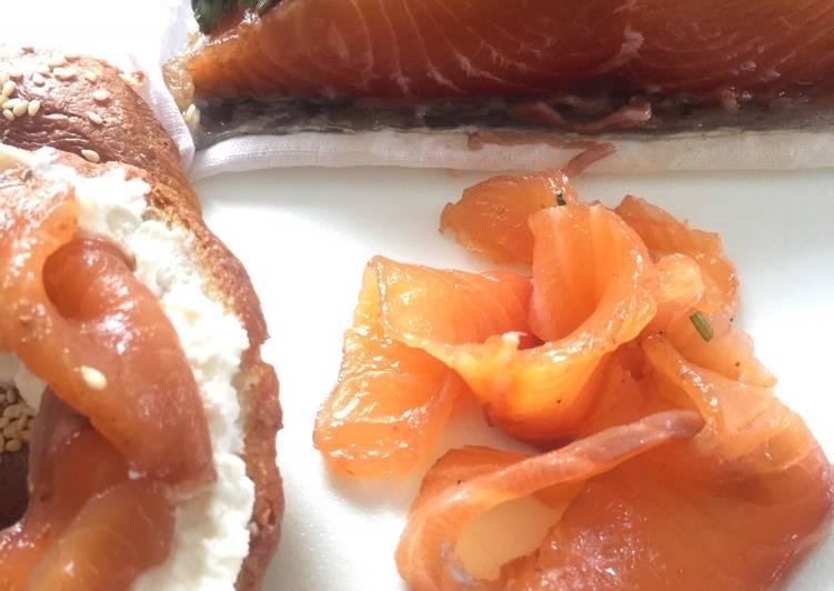 Resep Smoked Salmon Lox #homemade