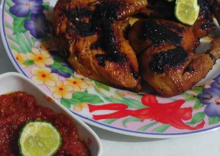 Resep Ayam bakar pedas gurih