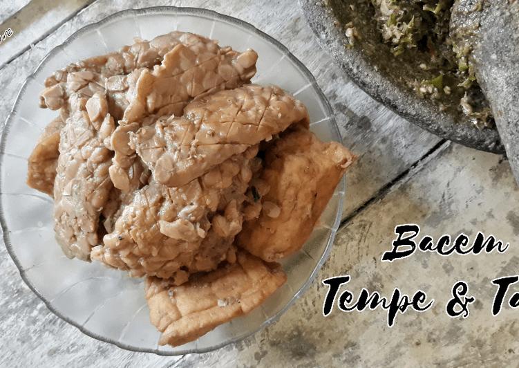 Resep #Bacem Tempe & Tahu paling simple