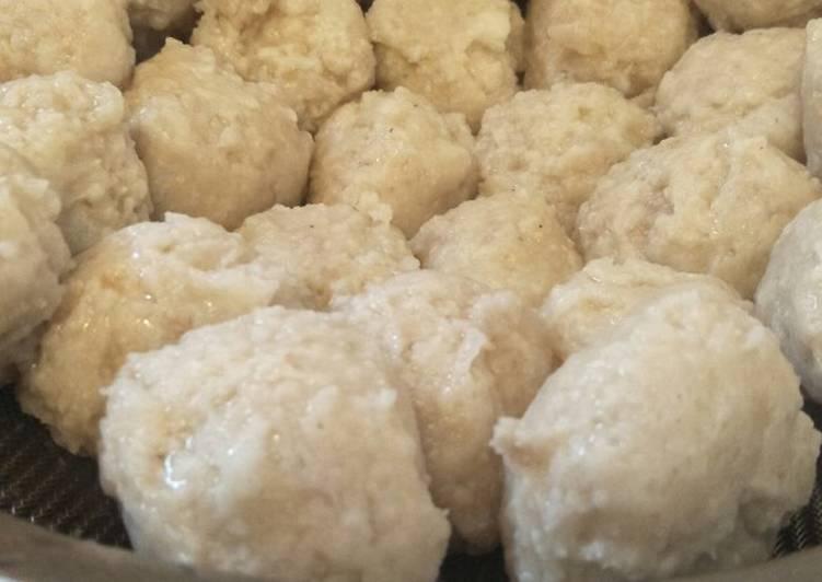 Resep Bakso ayam jamur