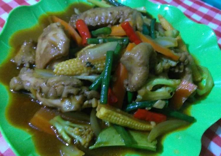 Resep Ayam Paprik ala thai