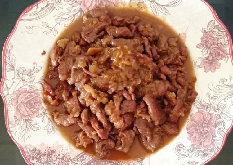 Resep Dabing Babi Kecap Saus Tiram