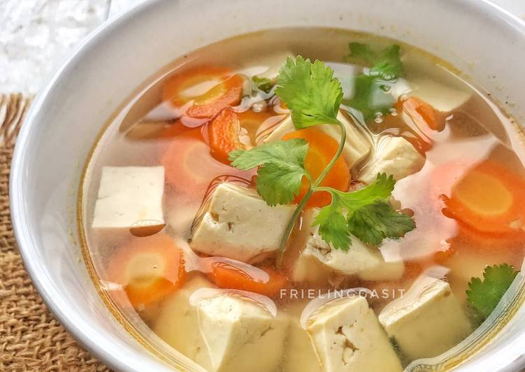 Resep Sup tahu udang ala thai