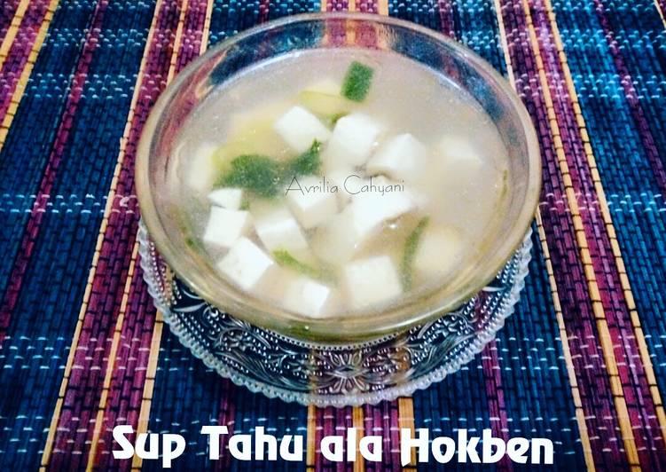 Resep Sup Tahu ala Hokben