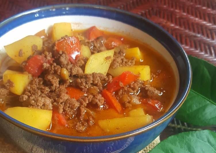 Resep Semur daging sapi cincang dan kentang