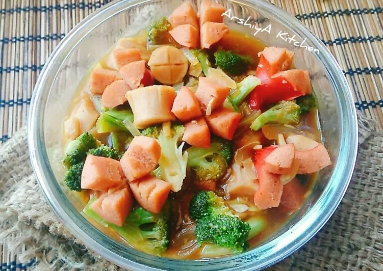 Resep Cah Brokoli Sosis