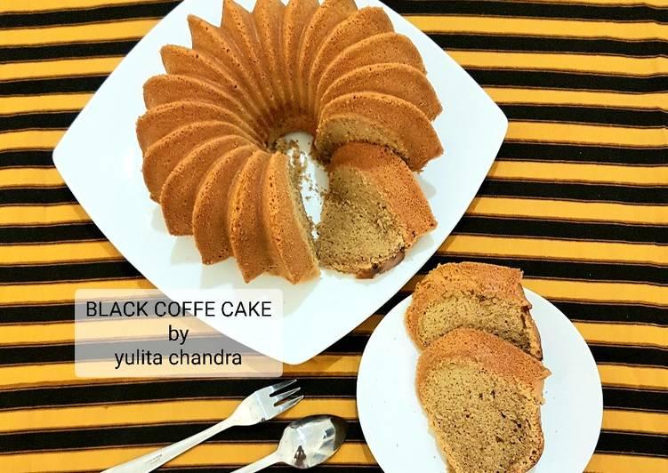 Resep BLACK COFFEE CAKE / BOLU KOPI