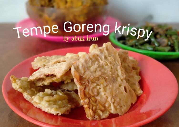 Resep Tempe Goreng Krispy