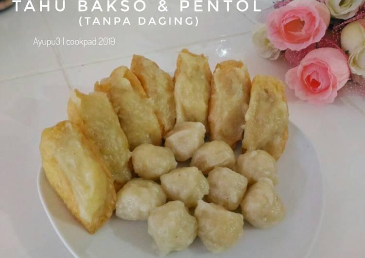 Resep Tahu bakso & pentol tanpa daging