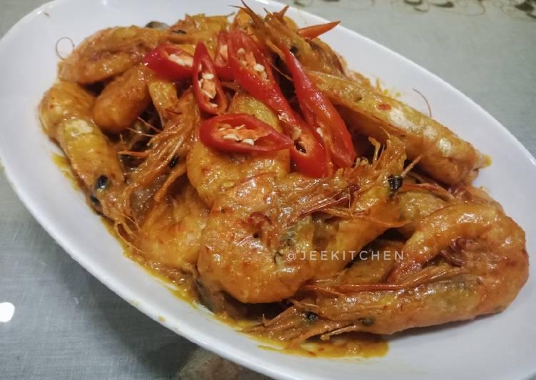 Resep Udang bumbu rendang #selasabisa