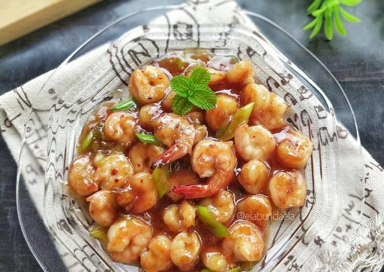 Resep Honey Glazed Shrimp (Udang Saus Madu)