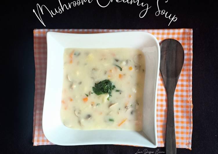 Resep (49.Mushroom Creamy Soup
