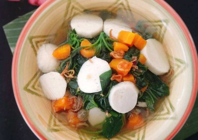 Resep Sup Bayam Bakso Ikan